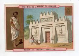 Chromo - Epicerie A. Lambert, Villers Cottrets - Histoire De L'habitation Humaine - Maison Et Costumes Soudaniens - Autres
