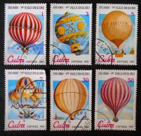 AEROSTATS 1983 - OBLITERES - YT 2424/29 - MI 2725/30 - Cuba