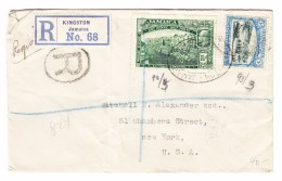 Jamaica Kingston 1913 R-Brief Nach USA Ankunftsstempel  New-York 3.3.1923 - Jamaïque (...-1961)