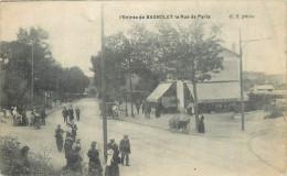 93 BAGNOLET  L'entrée Et La Rue De Paris   2 Scans - Bagnolet