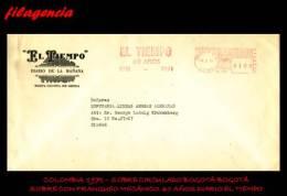 AMERICA. COLOMBIA. ENTEROS POSTALES. SOBRE CON FRANQUEO MECÁNICO 1971. 60 ANIVERSARIO DIARIO EL TIEMPO. SOBRE CIRCULADO - Colombia