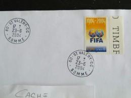 SAINT VALERY CC - SOMME - CACHET ROND MANUEL SUR YT 3671 FIFA FOOTBALL BALLON - Marcophilie (Lettres)