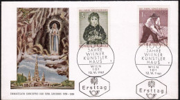 """Austria 1961, FDC Cover """"100 Years Of National Library"""" W./postmark """"Wien"""", Ref.bbzg - FDC"""