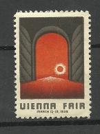 Austrie Österreich Reklamemarke 1939 Wienna Fair MNH Light Vertical Fold - Vignetten (Erinnophilie)