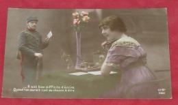 Carte Patriotiques - Militaires - Soldats - Femmes : Guerre 1914 - 1918 - Fleurs  ---- 354 - Patriottiche