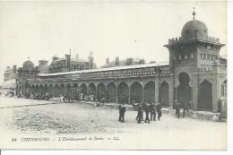 94 - CHERBOURG - L'ETABLISSEMENT DE BAINS  ( Animées ) - Cherbourg
