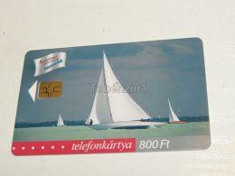 Sailing Boat Segelboot Schiff Shipp In Balaton From 1940 2001 Phonecard Hungary - Boats