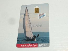 Sailing Boat Segelboot Schiff Shipp In Balaton Quadriga Nautic 12 Racer 2001 Phonecard Hungary - Boats