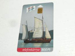 Old Sailing Boat Segelboot Schiff Shipp In Balaton 2002 Phonecard Hungary - Boats