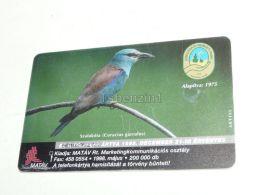 Coracias Garrulus European Roller Bird Vogel Bugac 1998 Phonecard Hungary - Unclassified