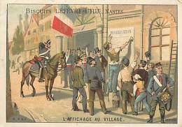 AM V 16 284 : LEFEVRE UTILE  L AFFICHAGE AU VILLAGE - Lu