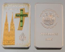 Libéria 10 Dollars 2005 Koln Cathedral Argent Couleurs Eglise - Liberia