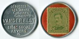 N93-0384 - Timbre-monnaie Van Der Elst - 5 Centimes - Kapselgeld - Encased Postage (Belgique) - Monétaires / De Nécessité