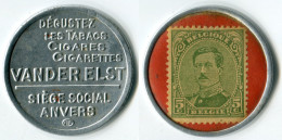 N93-0384 - Timbre-monnaie Van Der Elst - 5 Centimes - Kapselgeld - Encased Postage (Belgique) - Monedas / De Necesidad