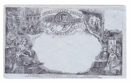 GB England 1845? Ungebrauchtes Dereademeaker Couvert Design : J. Valentine Motiv Alkohol - 1840 Mulready-Umschläge