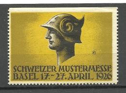 SCHWEIZ Switzerland 1926 Foire Suisse Bale Basel MNH - Svizzera