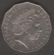 AUSTRALIA 50 CENTS 1999 - Moneta Decimale (1966-...)