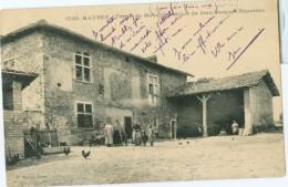 Maubec 1912: Ferme De Monquin, Séjour De Jean Jacques Rousseau - Circ. With 2 Stamps. (P. Martel - Lyon) - Autres Communes