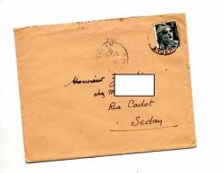 Lettre Cachet Sedan Sur Gandon + Lettre Vetement Coin Du Feu - Marcophilie (Lettres)