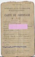 Carte Jardinage ,1942 Saone Et Loire - Old Paper
