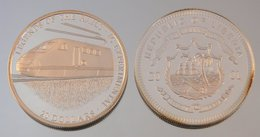 Libéria 20 Dollars 2001 Train IC Argent Train - Liberia
