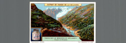 Cromo Liebig   VUES DE LA NOUVELLE ZELANDE   GLACIER DE REISCHEK - Liebig
