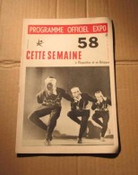 Expo 58 N°24 Programme Officiel Bruxelles Marionnettes De Salzbourg, Etc. - Cultura