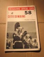 Expo 58 N°18 Programme Officiel Bruxelles Folklore Sicilien, Etc. - Cultura