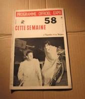Expo 58 N°16 Programme Officiel Bruxelles Journée Officielle Turque, Etc. - Cultura