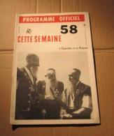 Expo 58 N°15 Programme Officiel Bruxelles Orchestre National D´Espagne, Etc. - Cultura