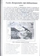 VUELOS AEROPOSTALES POR HIDROAVIONES ALGERIO NONIS Wasserflugzeug  HYDRAVION  SEAPLANE  IDROVOLANTE Hidroavião - Posta Aerea E Storia Aviazione