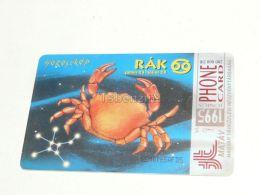 Cancer Krabbe Zodiac 1995 Phonecard Hungary - Zodiac