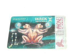 Zwillinge Gemini Monkey Affe Zodiac 1995 Phonecard Hungary - Zodiac