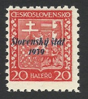 Slovakia, 20 H. 1939, Sc # 4, Mi # 4, MNH - Slovakia