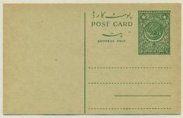 Pakistan - 1954 - 9 Ps Postal Card - Unused
