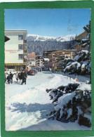 CRANS SUR SIERRE--Centre De La Station Sous La Neige Animée , Boulangerie Tea-room, Cpsm Année 1967 - VS Valais