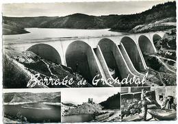 15 BARRAGE De GRANDVAL - Le Barrage - Cirque De Mallet - Château D'Alleuze - Source Du Par - France