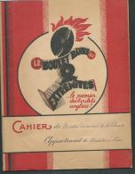 Protecahier Et Cahier De 1937 - Publicité Charbon , Le Boulet Barre Premier  Des Boulets Anglais -  Vifg0605 - Carte Assorbenti