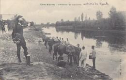 Militaria - Scènes Militaires - Abreuvoir En Manoeuvre - Environs De Nantes - Cavalerie Dragon - RARE - Manoeuvres