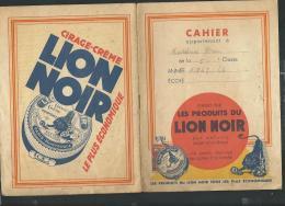 """Publicite Cirage Sur Porte Cahier Daté En 1943/44 """" Les Produits Du Lion Noir """" -  Vifg0607 - C"""