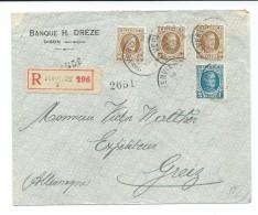 Lettre Recommandée De Verviers 2 Vers Greiz De 1927 - - 1922-1927 Houyoux