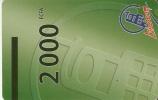 TARJETA DE BENIN DE 2000 FCFA -LIBERCOM - Benin
