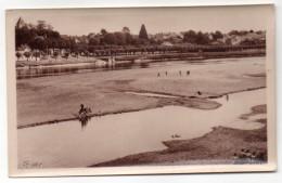 COSNE--1953--La Loire Et Sa Plage,cpsm 14 X 9  éd Libr Augrain--Beau Cachet BOURGES-Salon Gastronomie - Cosne Cours Sur Loire