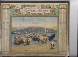 CALENDRIER DES PTT DE 1907 - 4 PHOTOS - - Calendriers
