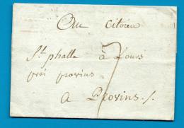 Yonne - Joigny Pour Provins. LAC Taxée écrite à Vallée Profonde. TARIF RARE. Voir Description - 1701-1800: Precursors XVIII