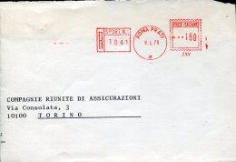 8886 Italia,  Red Meter  Freistempel EMA 1970 Roma Prati Sportello Autom. Poste Italiane, Circuled Cover - Poststempel - Freistempel