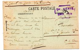Cachet Franchise Militaire  1 Er Génie - Documents