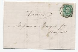 429/24 - VIGNETTE - Lettre TP 30 AUDENAERDE 1880 - Entete Houblon Leclercq à ALOST - Vignette Au Verso - Bières
