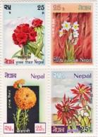 NEPAL FLOWER SERIES 4 STAMP SET NEPAL 1969 MINT - Zonder Classificatie