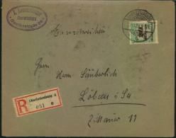 1923, Einschreiben Ab CHARLOTTENBURG 4 Mit Vorder- Und Rückseitiger Frankatur, Ansehen - Allemagne